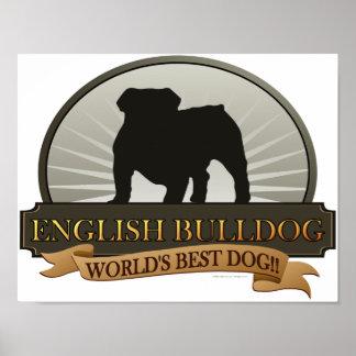 Dogo inglés póster
