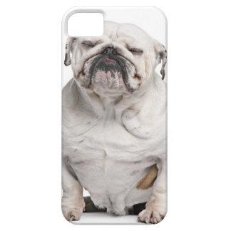 Dogo inglés, sentándose iPhone 5 Case-Mate coberturas