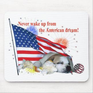 Dogo inglés - sueño americano alfombrillas de ratón