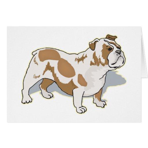 Dogo inglés tarjeta