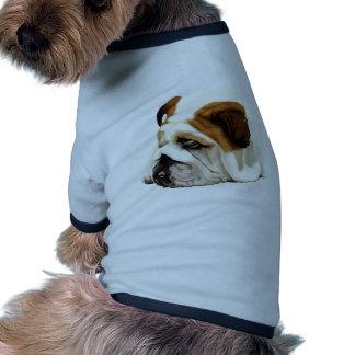 Dogo inglés viejo camisa de perro