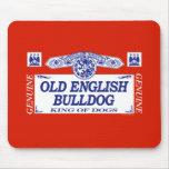 Dogo inglés viejo tapete de ratones