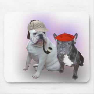 Dogo inglés y dogo francés alfombrillas de ratones