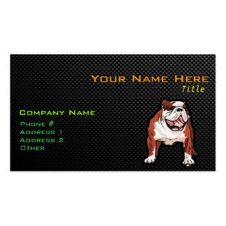 Dogo liso tarjeta de visita