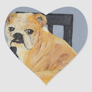 Dogo Madeline Pegatina En Forma De Corazón