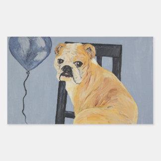 Dogo Madeline Pegatina Rectangular