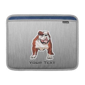 Dogo; Mirada cepillada del metal Fundas MacBook