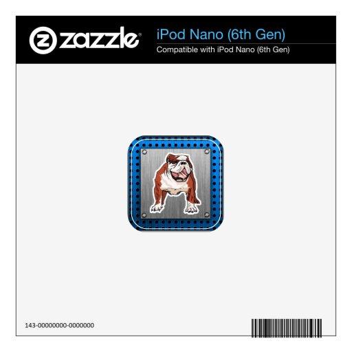 Dogo; Mirada cepillada del metal iPod Nano Skins