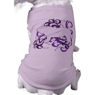 Dogo púrpura del inglés del remolino playera sin mangas para perro