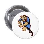 Dogo que juega al rugbi que corre con la bola pins
