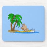 dogo que practica surf tapete de ratón