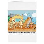 Dogo - regalos del dibujo animado del caniche tarjetón