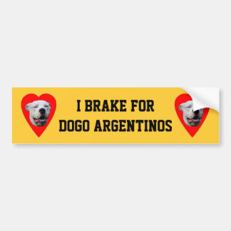 Dogo sonriente Argentino Etiqueta De Parachoque