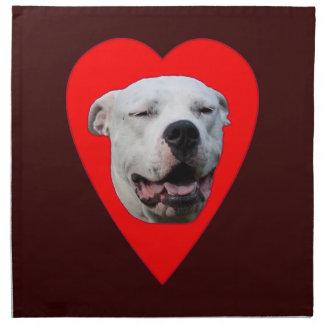 Dogo sonriente Argentino Servilleta Imprimida