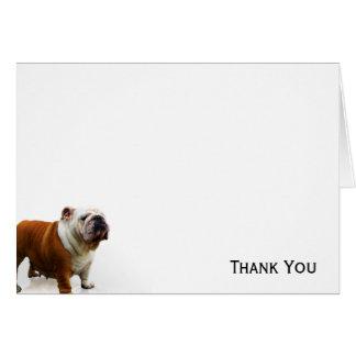 Dogo sonriente tarjeta pequeña