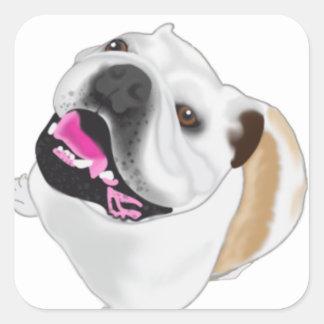 Dogo Wyatt de Mertes de la tolerancia Pegatina Cuadrada