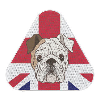 Dogo y altavoz ingleses de Union Jack Pieladium