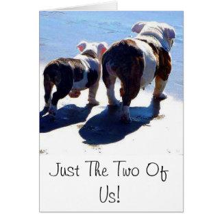 Dogo y perrito ingleses tarjeta de felicitación
