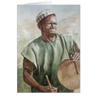 Dogon Drummer Greeting Card