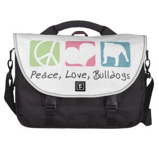 Dogos del amor de la paz bolsas para portatil