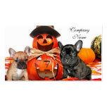 Dogos franceses de Halloween Tarjetas De Negocios