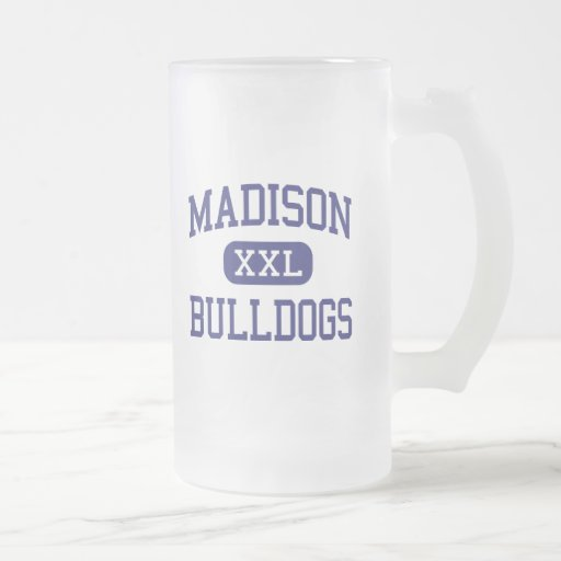 Dogos Hollywood del norte medio de Madison Taza Cristal Mate