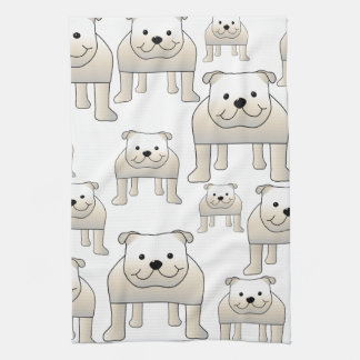 Dogos ingleses, blancos. Modelo de los perros Toallas De Cocina