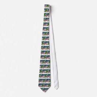 Dogos ingleses mágicos del navidad (dos) corbatas personalizadas