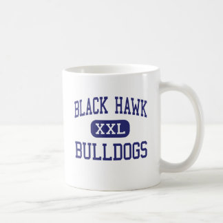 Dogos negros Madison media Wisconsin del halcón Taza De Café