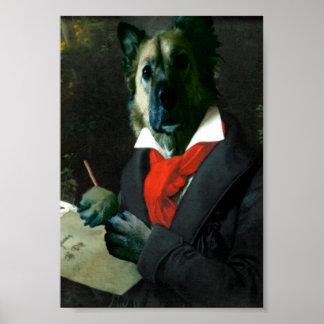 Dogoven, Dog Musician at Work Poster