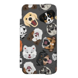 DogPattern01_02_B_Quadrat.ai iPhone SE/5/5s Wallet Case