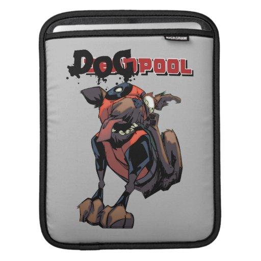 Dogpool Scratching Ear iPad Sleeve