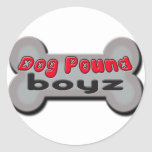 DogpoundboyzGreyTRans Classic Round Sticker