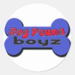 DogpoundboyzTransLogo Classic Round Sticker
