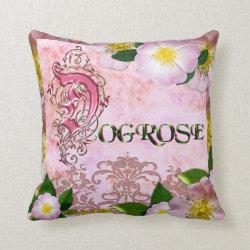 Dogrose Throw Pillow