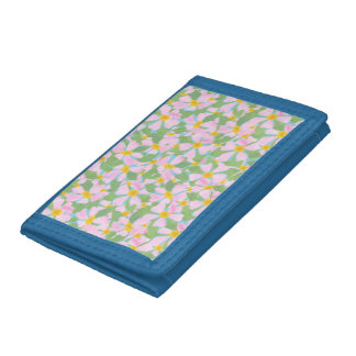 Dogroses rosado en la cartera de tres pliegues del
