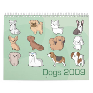 Dogs 2009 calendar