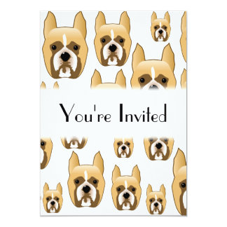 Dogs, A Pattern of Boxers. Card