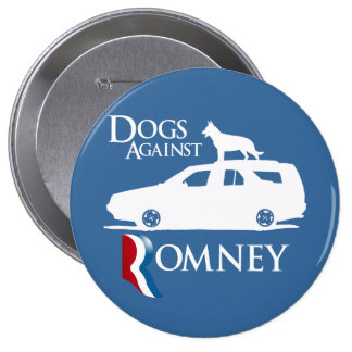 Dogs Against Mitt Romney.png Pinback Button