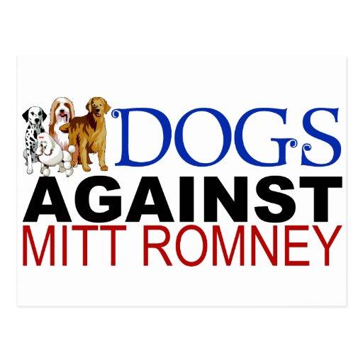 Dogs Against Mitt Romney Post Cards