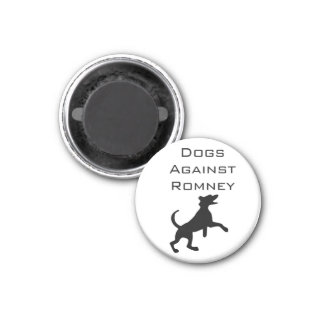 Dogs Against Romney 1 Inch Round Magnet