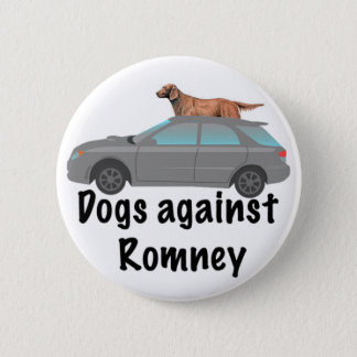 Dogs against Romney Button