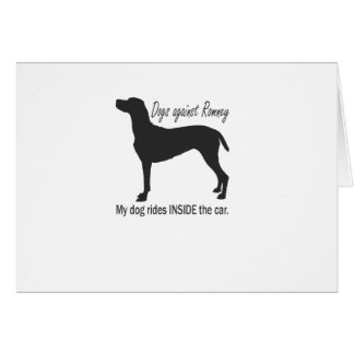 Dogs Against Romney Greeting Cards