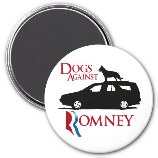 Dogs Against Romney -.png 3 Inch Round Magnet