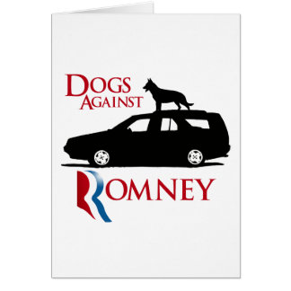 Dogs Against Romney -.png Greeting Card