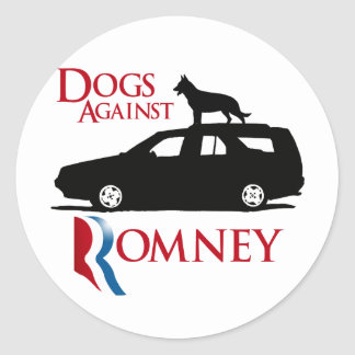 Dogs Against Romney -.png Classic Round Sticker