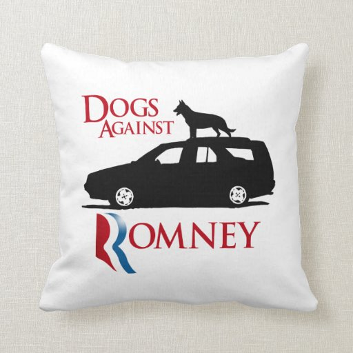 Dogs Against Romney -.png Pillow