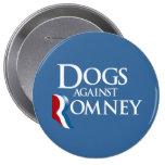 Dogs against Romney.png Pinback Button