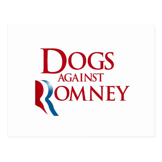 Dogs against Romney.png Postcard