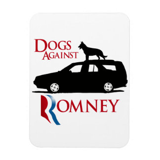 Dogs Against Romney -.png Rectangle Magnets